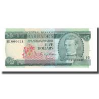 Billet, Barbados, 5 Dollars, Undated (1973), KM:31a, NEUF - Barbades