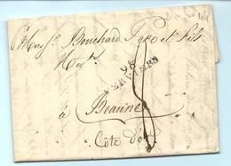 Département Conquis De L'Ourthe - Verviers Pour Bouchard à Beaune. LAC Du 1er JANVIER 1806 - Marcofilie (Brieven)
