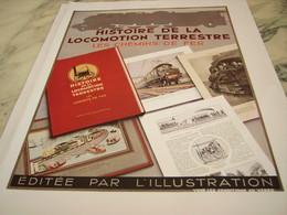 ANCIENNE PUBLICITE  HISTOIRE DE LA LOCOMOTION 1935 - Chemin De Fer