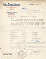 Parti Social Français , Saint - Dié , Vosges ,liste Des Sections Vosgiennes ,1937 - France