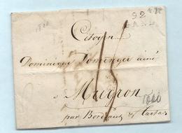 Département Conquis De L'Escaut - Gand Pour Mugron. LAC De 1800 - Marcophilie (Lettres)