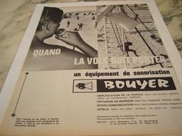 ANCIENNE PUBLICITE EQUIPEMENT DE SONORISATION BOUYER MONTAUBAN 1964 - Autres