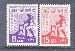 JAPANESE  OCCUPATION  MALAYA  N 33-34      * - Great Britain (former Colonies & Protectorates)