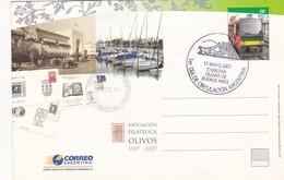 ASOCIACION FILATELICA OLIVOS, OFICINA TEMPORARIA PARA EXPO ENTIER STATIONERY OBLITEREE FDC 2007 BUENOS AIRES - BLEUP - Interi Postali