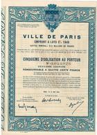 Titre Ancien - Ville De Paris - Emprunt à Lots 3% 1948 - Shareholdings