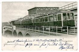 Berlin, Hochbahnzug Auf Dem Anschlussdreieck, Alte Ansichtskarte 1902, S-Bahn, U-Bahn - Tramways