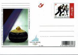 Belgien Belgie Belgium 2006 - Eisstockschießen Curling - Briefkarte - Winter 2006: Torino