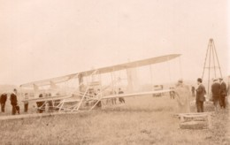 France Juvisy Aviation Comte De Lambert Biplan Wright Ancienne Photo 1909 - Aviación