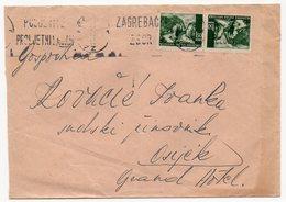 1942 NDH, CROATIA, ZAGREB, WW2, TETE-BASH, 1.5 KUNA, ZELENJAK - Croatia