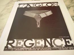 ANCIENNE PUBLICITE REGENCE DE L AIGLON 1935 - Vintage Clothes & Linen