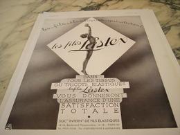 ANCIENNE PUBLICITE GARANTIE  FILES LASTEX 1935 - Vintage Clothes & Linen