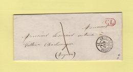 Chateau Gontier - 51 - Mayenne - 22 Aout 1854 - CL Correspondance Locale - Marcophilie (Lettres)