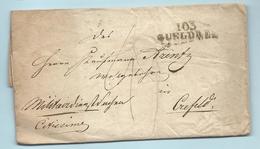 Département Conquis De La Roer - Gueldres Pour Crefeld. - Marcophilie (Lettres)