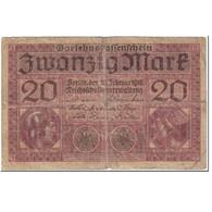 Billet, Allemagne, 20 Mark, 1918, 1918-02-20, KM:57, B - [ 2] 1871-1918 : Empire Allemand