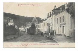 CPA 88 LA NEUVEVILLE LES RAON Le Tramway De La Vallée De CELLES Dans L'avenue De La Gare - Frankrijk