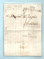 Département Conquis De Montenotte - Port Maurice Pour Marseille. Au Verso, MP 85/VINTIMILLE. - Marcophilie (Lettres)