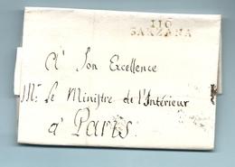Département Conquis Des Appenins - Sarzana Pour Le Ministre De L'intérieur à Paris. Franchise - 1792-1815: Départements Conquis