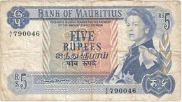 Mauricio - Mauritius 5 Rupees 1967 Pk 30 A Firma 1 Ref 1 - Mauritius