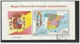 1996-ED. 3460 H.B.-MAPA OFICIAL AUTONOMICO-USADO- - Blocs & Hojas