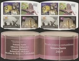 2019-ED. 5308 A 5311- 5308C - CARNET SEMANA SANTA Albacete, Azuaga, Balmaseda Y Medina De Rioseco -NUEVO - 2011-... Unused Stamps