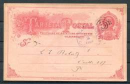 Costa Rica San Jose Inland Ganzsache 1907 Mit Werbe Zudruck - Costa Rica