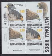 Bosnia Serbia 2019 Europa CEPT National Birds Fauna Eagles Falcon Aquila Chryseatos Falco Peregrinus Booklet MNH - Adler & Greifvögel
