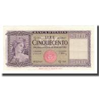 Billet, Italie, 500 Lire, 1947-61, KM:80a, SUP - [ 2] 1946-… : Républic