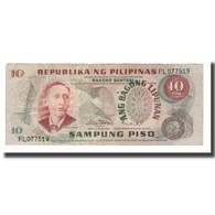 Billet, Philippines, 10 Piso, Undated (1969), KM:144a, TTB - Philippines