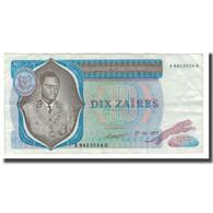 Billet, Zaïre, 10 Zaïres, 1972-77, 1977-10-27, KM:23b, TTB - Zaïre
