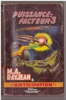 Roman. M.A. Rayjean. Puissance Facteur 3. Fleuve Noir. Anticipation. N° 171. Etat Moyen. - Fleuve Noir