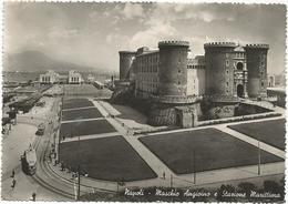 W2684 Napoli - Maschio Angioino E Stazione Marittima - Tram - Panorama / Viaggiata 1949 - Napoli