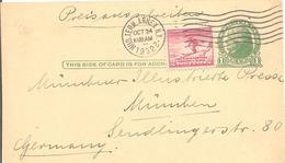 1932 Entier Postal Pour L'Allemagne Avec Affranchissement Complémentaire :Jeux Olympiques Lake-Placid - Winter 1932: Lake Placid