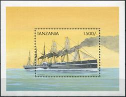 "Tanzania 1999. Steamship  ""Great Eastern"" (1858) (MNH OG) Souvenir Sheet - Tanzania (1964-...)"