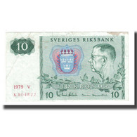Billet, Suède, 10 Kronor, 1963-1990, 1979, KM:52d, TTB - Suède