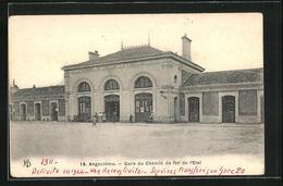 CPA Angouleme, Gare Du Chemin De Fer De L`Etat, La Gare - Angouleme