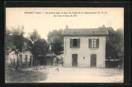 CPA Polisot, Au Premier Plan La Gare De Fer Departemental, Au Fond, La Gare De L`Est, La Gare - France