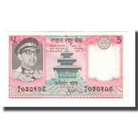 Billet, Népal, 5 Rupees, Undated (1974), KM:23a, SUP - Népal