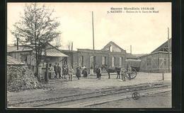 CPA Raismes, Ruines De La Gare Du Nord - France