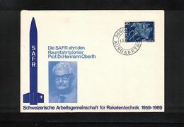 Schweiz / Switzerland 1969 Space / Raumfahrt  Dr.Hermann Oberth Interesting Cover - Europa