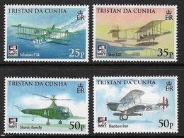 Tristan Da Cunha 2009 Naval Aviation Set 4v Complete Unmounted Mint [4/4012/ND] - Tristan Da Cunha