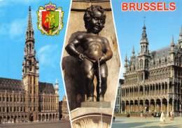 CPM - BRUSSELS - Panoramische Zichten, Meerdere Zichten