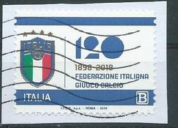 IU220  ITALIA 2018 120° FIGC - 6. 1946-.. Repubblica