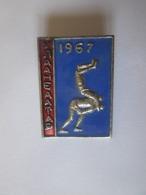 Rare! Wrestling Mongolian Enamelled Badge:Ulan Baatar 1967,size=25 X 18 Mm - Wrestling