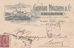 FIRENZE-GIORGIO NICOLINI & C-FABBRICA DI TELE INCERATE-CARTOLINA VIAGGIATA IL 24-12-1901 - Firenze