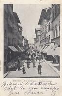 FIRENZE-VIA DELL'ARIENTO E MERCATO CENTRALE-CARTOLINA VIAGGIATA NEL 1903 - Firenze