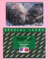 New Zealand - 1993 Philatelia Mit T'card - $5 Elephant Seals - NZ-E-7 - Mint In Folder - Neuseeland