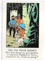CPM    HERGE   LES AVENTURES DE TINTIN   VOL 714 POUR SYDNEY - Stripverhalen