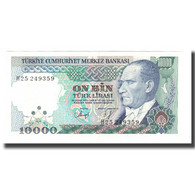 Billet, Turquie, 10,000 Lira, L.1970, 1970-01-14, KM:199, NEUF - Turkey