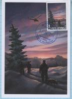 UKRAINE. Maidan Post. Maxi Card. Military. War Painting. Anti-terrorist Operation . Border Guards. Helicopter. 2016 - Ucraina