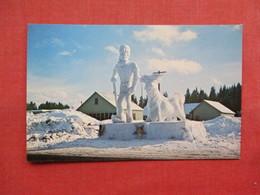 Snow Sculpture Paul Bunyan & Babe The Blue Ox  McCall Idaho   Ref 3304 - Etats-Unis